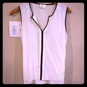 Kate Spade Silk Top Cream Black Size Small